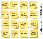 sticky note with text and... | Shutterstock .eps vector #728407525