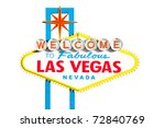famous las vegas welcome sign... | Shutterstock . vector #72840769