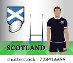 scotland team new official... | Shutterstock .eps vector #728416699