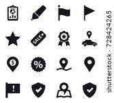 16 vector icon set   report ... | Shutterstock .eps vector #728424265