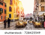 old square in venice  italy.... | Shutterstock . vector #728425549