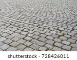 old cobble stone road in rome ... | Shutterstock . vector #728426011