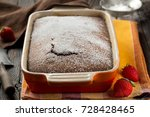 rustic chocolate cake with nuts ... | Shutterstock . vector #728428465