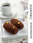 cakes rum ball in a white plate ... | Shutterstock . vector #728428555