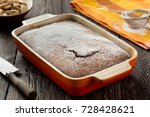 rustic chocolate cake with nuts ... | Shutterstock . vector #728428621