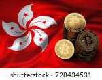 Stack Of Bitcoin Coins On Hong...