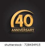 40 years anniversary... | Shutterstock .eps vector #728434915