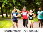 Young Woman Running In The...