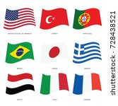 flags of countries set art... | Shutterstock .eps vector #728438521