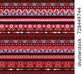 tribal seamless texture  vector.... | Shutterstock .eps vector #728449744