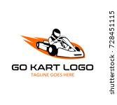 go kart logo illustration | Shutterstock .eps vector #728451115