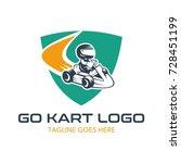 go kart logo illustration | Shutterstock .eps vector #728451199