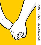 father and son holding hands | Shutterstock .eps vector #728462509