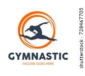 gymnastic logo | Shutterstock .eps vector #728467705