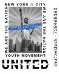 photo print new york and statue ...   Shutterstock . vector #728468161