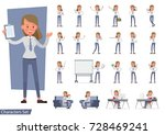 set of businesswoman character... | Shutterstock .eps vector #728469241