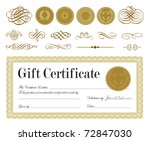 vector ornate frame. easy to... | Shutterstock .eps vector #72847030