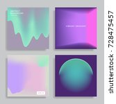 set of backgrounds with vibrant ... | Shutterstock .eps vector #728475457