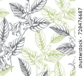 vector seamless pattern with... | Shutterstock .eps vector #728476687