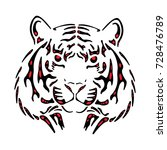 abstract red and black lion icon | Shutterstock .eps vector #728476789