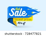 hot sale price offer deal... | Shutterstock .eps vector #728477821