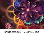 abstract fractal patterns and... | Shutterstock . vector #728480455