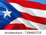 puerto rico. puerto rico flag.... | Shutterstock . vector #728483725