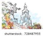 Watercolor Sketch Of Clock...