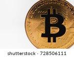 bitcoin symbol on white...   Shutterstock . vector #728506111