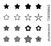 star icons isolated on white... | Shutterstock .eps vector #728508865