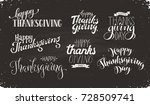 thanksgiving wording on chalk... | Shutterstock .eps vector #728509741