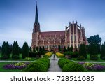 panoramic view of holy trinity... | Shutterstock . vector #728511085