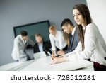 business team working together... | Shutterstock . vector #728512261