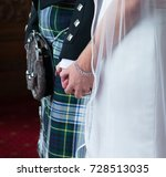 scottish wedding with bride and ... | Shutterstock . vector #728513035