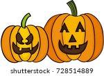 happy halloween pumpkin | Shutterstock .eps vector #728514889