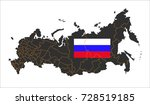 grey map of russia and national ... | Shutterstock .eps vector #728519185