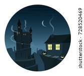 mysterious and spooky night... | Shutterstock .eps vector #728520469