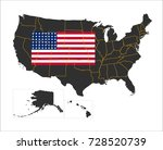 grey map of america and... | Shutterstock .eps vector #728520739