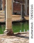 Small photo of Ancient columns in Villa Adriana near Rome, Italy