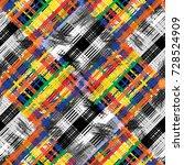 seamless pattern tartan design. ... | Shutterstock . vector #728524909