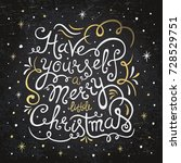 have yourself a merry little...   Shutterstock .eps vector #728529751