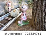 the old doll in the abandoned... | Shutterstock . vector #728534761