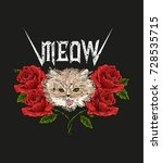 Rock And Roll Cat And Roses....