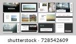 original presentation templates.... | Shutterstock .eps vector #728542609