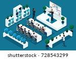 quality isometrics  3d... | Shutterstock .eps vector #728543299