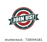 join us. grunge vintage retro... | Shutterstock .eps vector #728544181