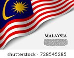 waving flag of malaysia on... | Shutterstock .eps vector #728545285