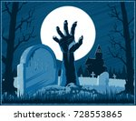 hand of zombie corpse with... | Shutterstock .eps vector #728553865