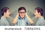 two angry men screaming at... | Shutterstock . vector #728562541
