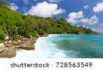 aerial view of anse intendance... | Shutterstock . vector #728563549